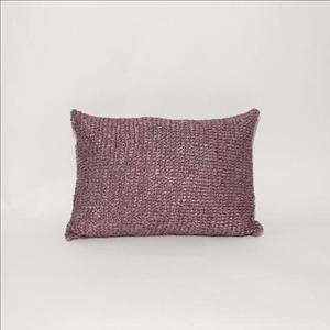 Purple Satin Throw Pillow