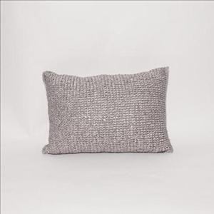 Grey Satin Throw Pillow