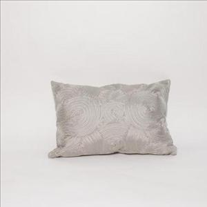 Grey Braided Throw Pillow