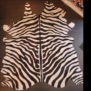 Zebra Cow Hide